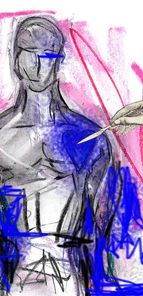"""Imagen de una parte de la portada del libro """"Tres relatos fantásticos"""""""